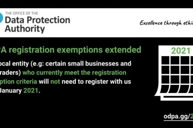 Office of Data Protection Authority registration exemptions